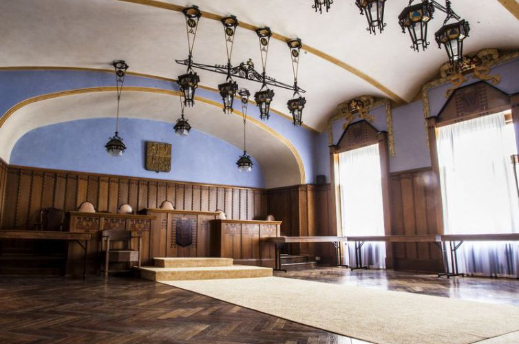 Historická část budovy – Obřadní síň Jana Kotěry